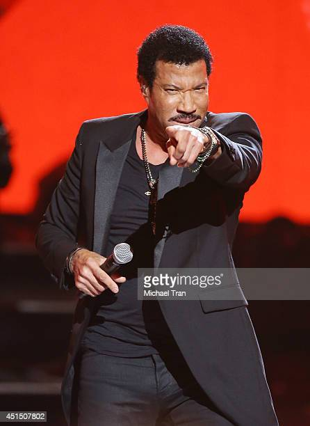 Lionel Richie performs onstage during the 'BET AWARDS' 14 held at Nokia Theater LA LIVE on June 29 2014 in Los Angeles California