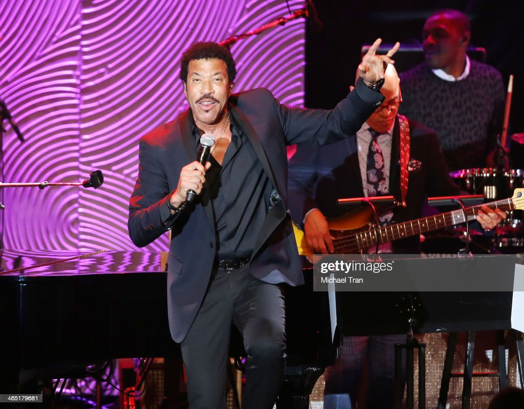 Lionel Richie performs onstage during the Clive Davis and The Recording Academy present The Annual PreGRAMMY Gala held at The Beverly Hilton Hotel on...