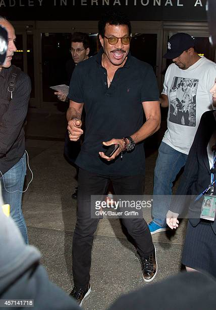 Lionel Richie seen at LAX on October 12 2014 in Los Angeles California