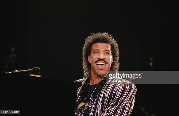 Lionel Richie US singersongwriter during a live concert performance at Wembley Arena London England Great Britain May 1987