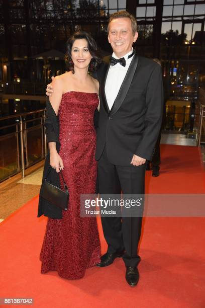 Lionel Souque and his wife Laure Souque attend the 29 KoelnBall on October 14 2017 in Cologne Germany