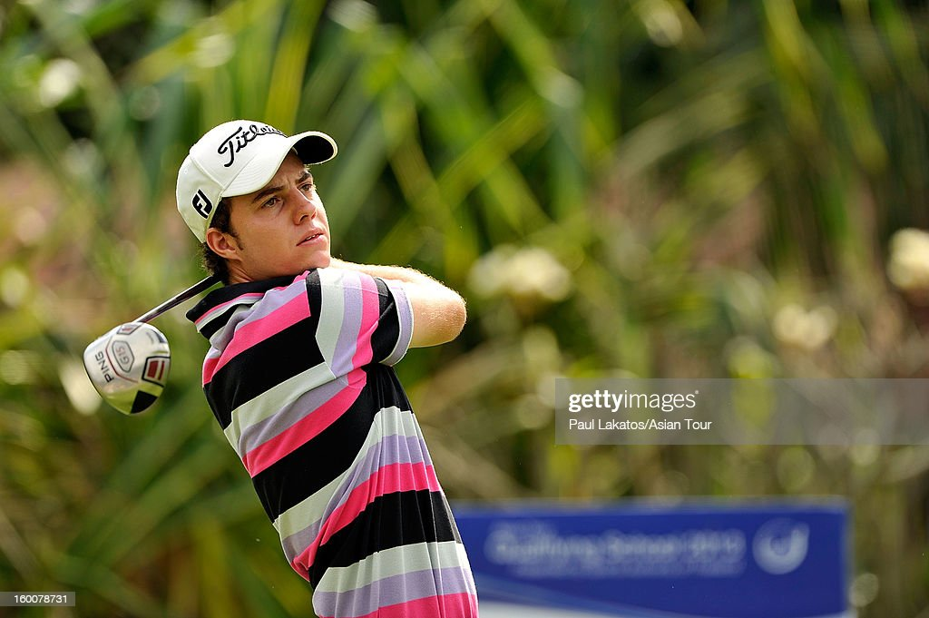 Lionel Webber of France plays a shot during round four of the Asian Tour Qualifying School Final Stage at Springfield Royal Country Club on January 26, 2013 in Hua Hin, Thailand.