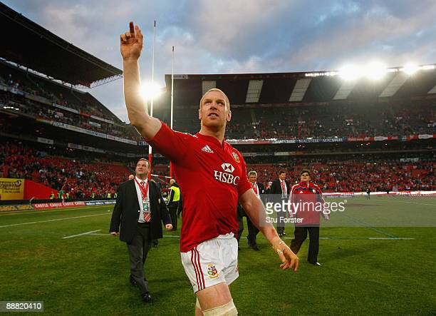 Lions captain Paul O' Connell waves to the crowd after the Third Test match between South Africa and The British and Irish Lions at Ellis Park...