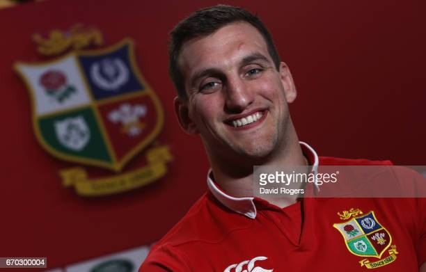 Lion's captain Sam Warburton poses during the British and Irish Lions Tour Squad and Captain annoucement at London Syon Park Hotel on April 19 2017...