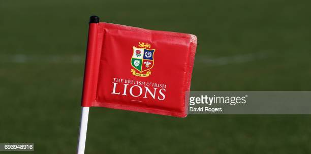 Lions corner flag during the British Irish Lions training session held at Linwood Rugby Club on June 9 2017 in Christchurch New Zealand