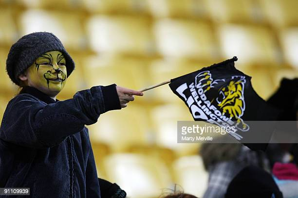 Lions fans during the Air New Zealand Cup Ranfurly Shield match between Wellington and Southland at Westpac Stadium on September 24 2009 in...