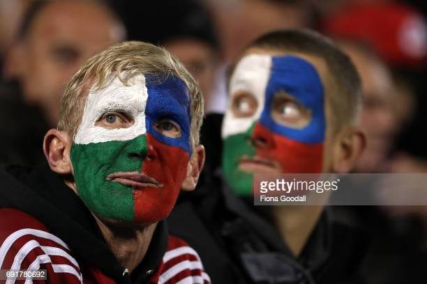 Lions fans during the match between the New Zealand Provincial Barbarians and British Irish Lions at Toll Stadium on June 3 2017 in Whangarei New...