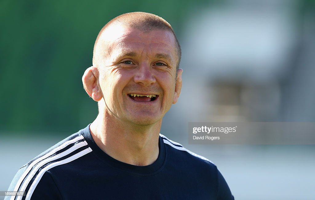 Lions forward coach Graham Rowntree looks on during the British and Irish Lions captain's run at NIB Stadium on June 4 2013 in Perth Western Australia