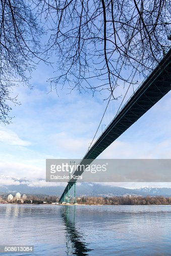 Lions Gate Bridge, Vancouver, Canada : Stock Photo