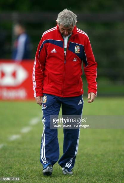Lions head coach Ian McGeechan during a training session at Bishops School Rondebosch Cape Town South Africa