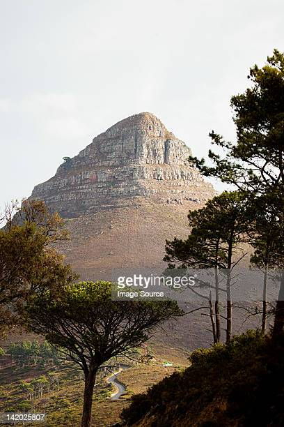 Lion's Head mountain viewed from Signal Hill, Cape Town South Africa,