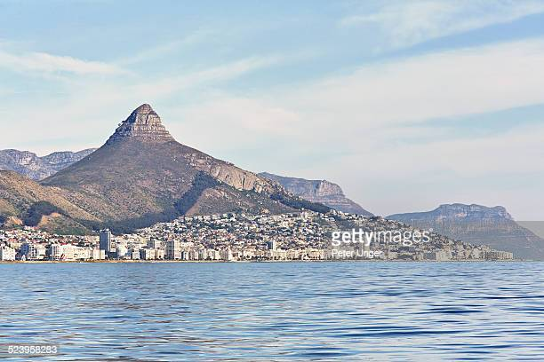Lions Head Mountain with city of Cape Town