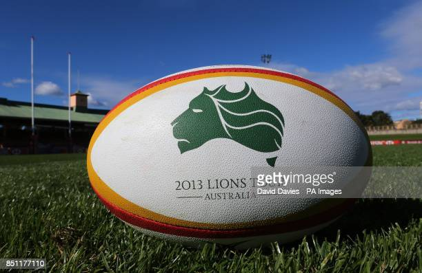 Lions Series matchball at the North Sydney Oval Sydney in Australia