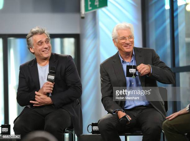 Lior Ashkenazi and Richard Gere attend Build Series Presents 'Norman The Moderate Rise And Tragic Fall Of A New York Fixer' at Build Studio on April...