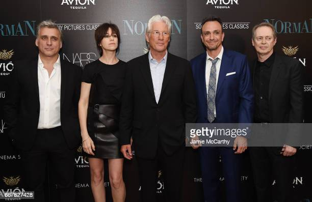 Lior Ashkenazi Charlotte Gainsbourg Richard Gere Hank Azaria and Steve Buscemi attend a screening of Sony Pictures Classics' 'Norman' hosted by The...