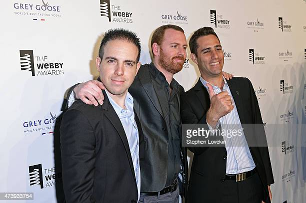 Lior Grossman Director of UX Tomer Lerner and CoFounder CTO Ilan Lewin of Wikiwand attend GREY GOOSE Vodka hosts The 19th Annual Webby Awards on May...