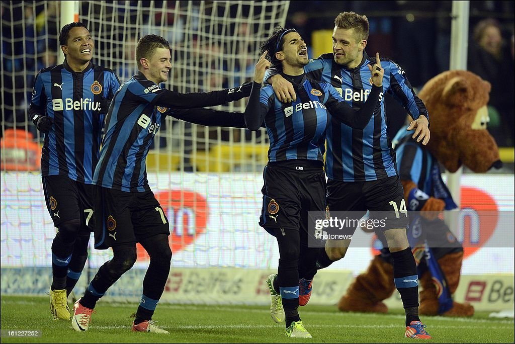 Lior Refaelov of Club Brugge KV celebrates scoring a goal during the Jupiler Pro League match between Club Brugge KV and Oud Heverlee Leuven on February 9, 2013 in Brugge, Belgium.