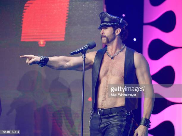 J Lippold of Village People at the 2017 Streamy Awards at The Beverly Hilton Hotel on September 26 2017 in Beverly Hills California