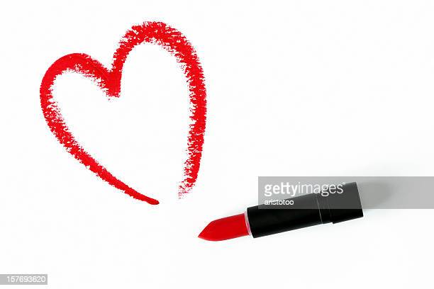 Lipstick Heart Drawing
