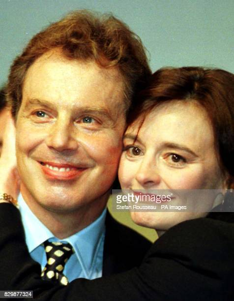 Lipstick marks on Tony Blair's cheeks show his wife Cherie's visible appreciation of her husband's speech to the Labour Party conference this...