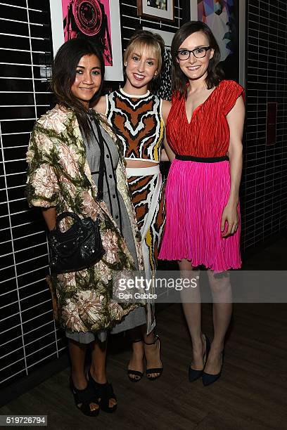 Liquica Zimiles Jazmin Grimaldi and Libby Woodbridge attend Disney With The Cinema Society Samsung host a screening of 'The Jungle Book' after party...