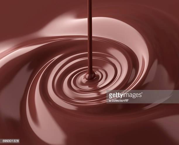 Liquid chocolate swirl