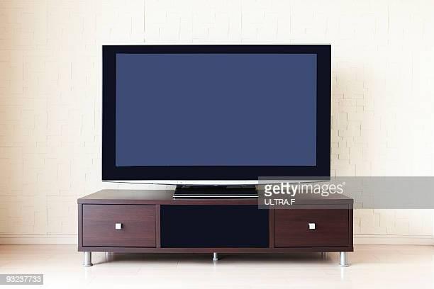 A liquid crystal (display) television.