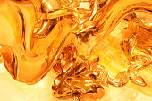 Hot liquid gold flowing out in all directions