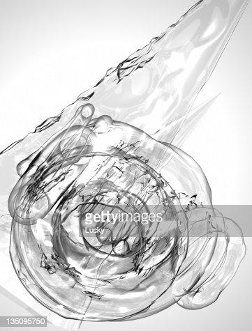 Liquid ice fluid abstract : Bildbanksbilder