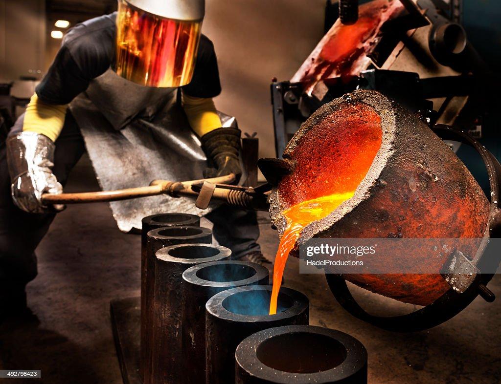 Liquid Molten Steel Industry : Stock Photo