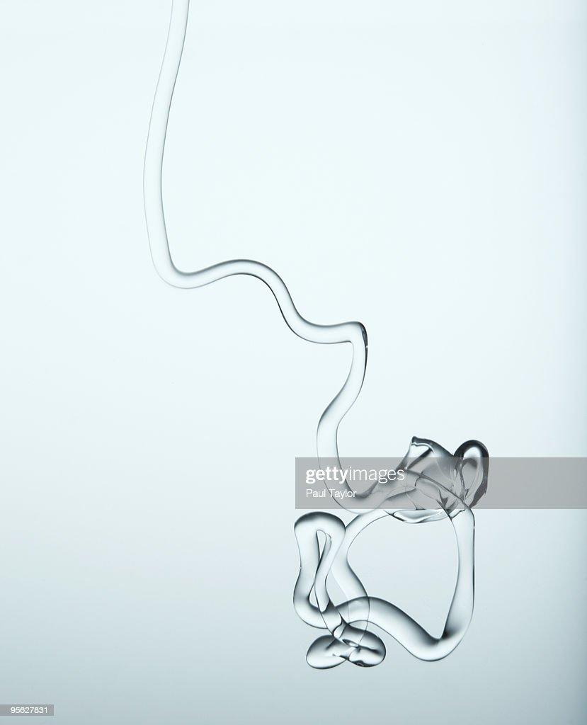 Liquid Stream in water : Stock Photo
