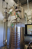 Liquified carbon dioxide gas tank in a brewery