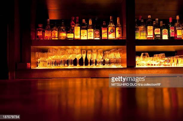 Liquor Bottles at Bar