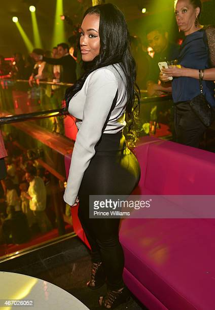 Lira Galore attends Simon Gidewon's Birthday Celebration at Gold Room on March 19 2015 in Atlanta Georgia