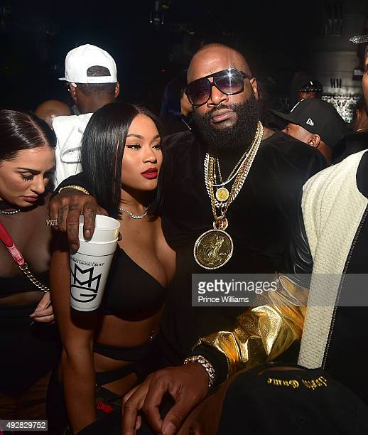Lira 'Galore' Mercer and Rick Ross attend BET Hip Hop Awards Weekend TakeOver at Compound on October 10 2015 in Atlanta Georgia