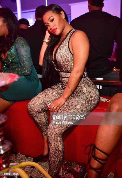 Lira Mercer attends a Super Bowl After Party at Showtime Night Club on February 3 2017 in Houston Texas
