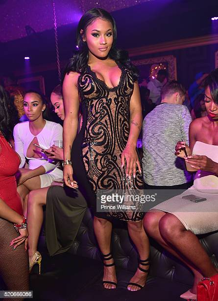 Lira Mercer attends Medusa Lounge on April 10 2016 in Atlanta Georgia