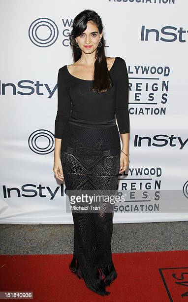 Liraz Charhi arrives at the Instyle and the Hollywood Foreign Press Association Party during the 2012 Toronto International Film Festival held at...