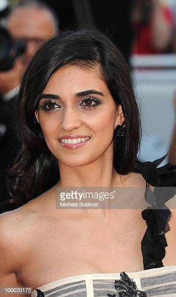 Liraz Charhi attends the 'Fair Game' Premiere held at the Palais des Festivals during the 63rd Annual International Cannes Film Festival on May 20...