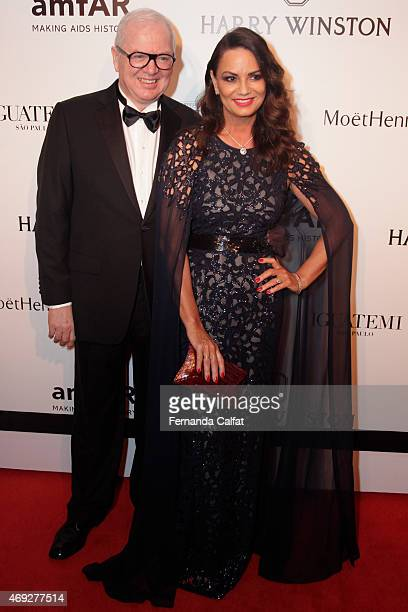 Lirio Parisotto and Luiza Brunet attend the 5th Annual amfAR Inspiration Gala at the home of Dinho Diniz on April 10 2015 in Sao Paulo Brazil