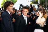 Liron Levo Sean Penn and Eve Hewson attend the 'This Must Be The Place' premiere during the 64th Annual Cannes Film Festival at Palais des Festivals...