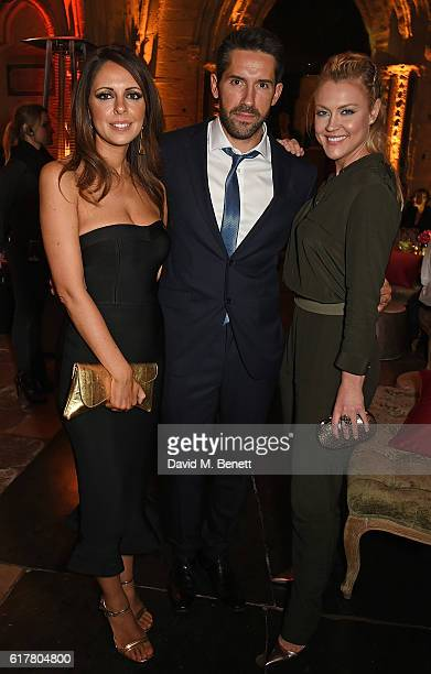 Lisa Adkins Scott Adkins and Camilla Kerslake attend Marvel Studios and British GQ hosted reception in The Cloisters at Westminster Abbey to...