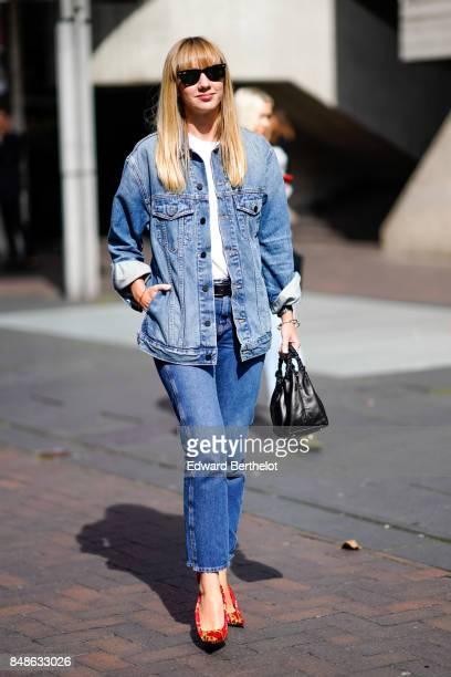 Lisa Aiken outside Roland Mouret during London Fashion Week September 2017 on September 17 2017 in London England