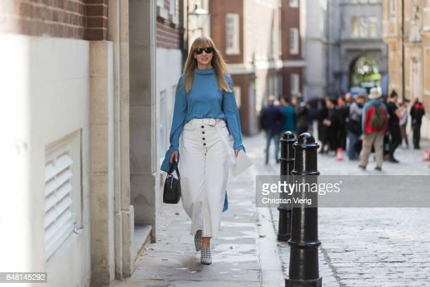 Lisa Aiken outside Simone Rocha during London Fashion Week September 2017 on September 16 2017 in London England