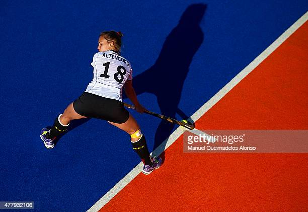 Lisa Altenburg of Germany in action during the match between Great Britain and Germany at Polideportivo Virgen del Carmen during day seven of the...