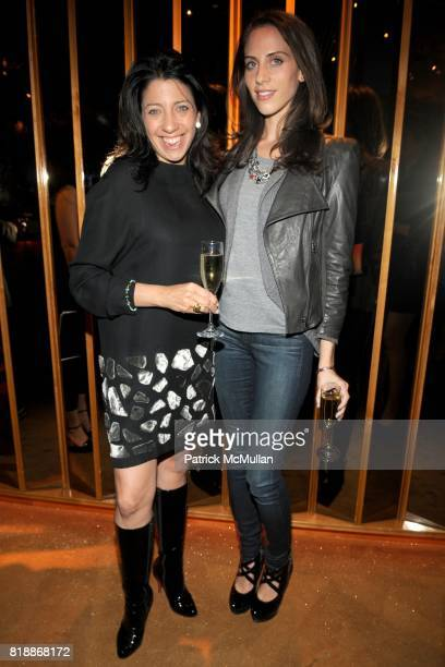Lisa Anastos and Dalia Oberlander attend Benetton presents the It's My Time campaign at the Top of The Standard on April 15th 2010 in New York City