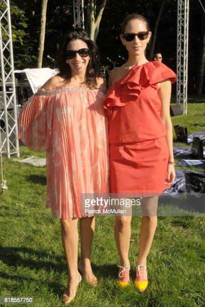 Lisa Anastos and Dalia Oberlander attend The WATERMILL CONCERT 2010 'Last Song Of Summer' at The Watermill Center on August 28 2010 in Watermill NY