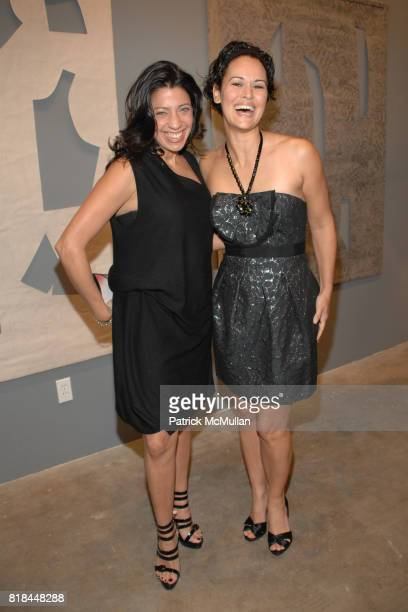 Lisa Anastos and Sydney Penny attend CALVIN KLEIN COLLECTION LOS ANGELES NOMADIC DIVISION CELEBRATE LA ARTS MONTH ART LOS ANGELES CONTEMPORARY at Los...