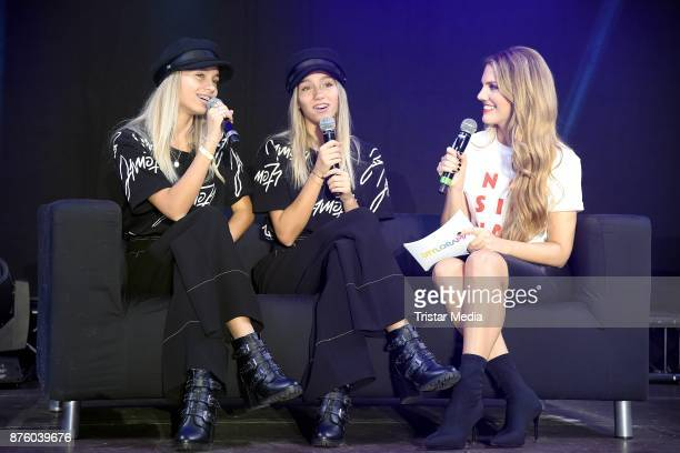 Lisa and Lena ad Viviane Geppert attend the Stylorama on November 18 2017 in Dortmund Germany