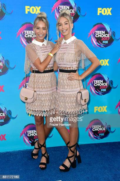 Lisa and Lena attend the Teen Choice Awards 2017 at Galen Center on August 13 2017 in Los Angeles California